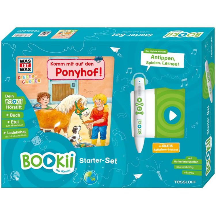 WAS IST WAS Kindergarten Komm mit auf den Ponyhof BOOKii® Starter-Set Noa