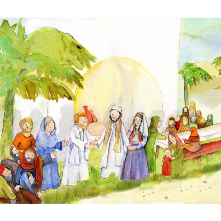 Bildkarten Fur Erzahltheater Die Hochzeit Zu Kana Bildkarten A3